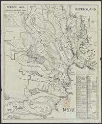 Sketch map, Lamington National Park, c1940s