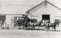 Cobb & Co coachworks, Charleville, 1900