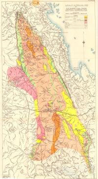 Locality and Geological Map of The Bowen Basin Coal Basin Central Queensland, 1949