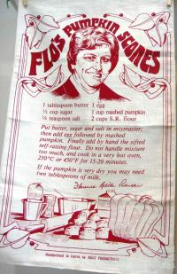 Flo's pumpkin scones tea-towel