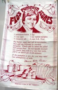 Flo's pumpkin scones tea-towel