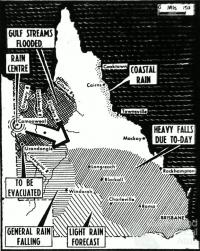 Rainfall in Queensland, February 1953