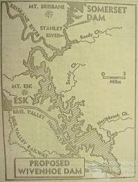 Proposed Wivenhoe Dam, 1972