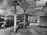 Interior of Brisbane Central Telephone Exchange, Brisbane, 1903