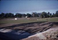 Sports oval under construction, Southport, c1960