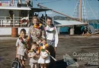 Hyndman family arriving on Thursday Island, 1958