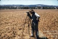 Surveying contour bank, Murgon, 1958