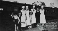 Refreshment Room staff at Bethania Junction c1935