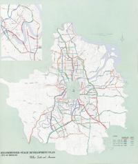 Development plan Brisbane roads, 1965