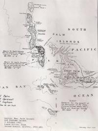 Map of Palm and Surrounding Islands, 1941