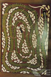 Carpet snake painting