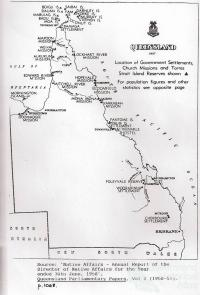 Map of Queensland Reserves and Missions, 1958