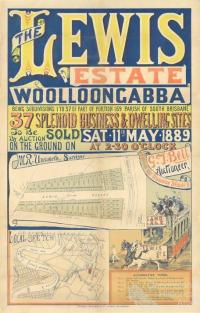 The Lewis Estate, Woolloongabba landsale, 1889