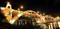 Ian de Gruchy, 'Connecting Brisbane' for the William Jolly Bridge Creative Lighting Project, 2012