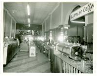 Interior, Londys café, Toowoomba, 1962