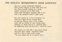 The Railway Refreshment Room Sandwich, 1890