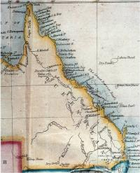 Edward Stanford's map of Queensland, 1861
