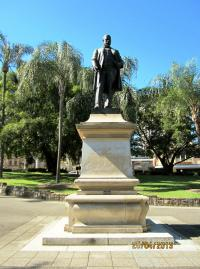 Byrnes statue, Centenary Place, 2013