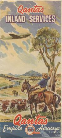 Qantas Inland Services brochure, 1945