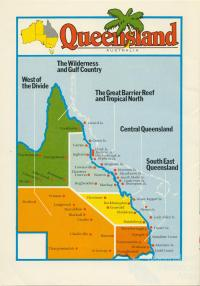 Queensland, tourism regions, c1990