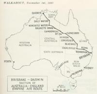 Brisbane - Darwin section of Australia - England Empire Air Route, Walkabout, November 1935