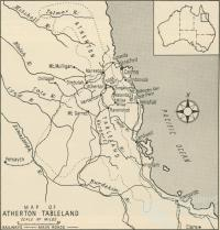Map of Atherton Tableland, 1958