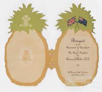 Pineapple invitation, 1920