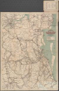 Craigie's road map 100 miles round Brisbane, 1914