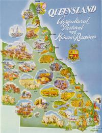 Queensland, agricultural pastoral and mineral resources, 1959