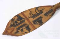 Solomon Island canoe paddle, 1884