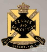 Civil Defence badge, Rescue and Demolition