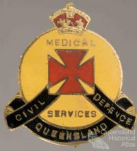 Civil Defence badge, Medical Services