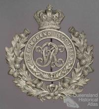 Queensland Scottish Volunteer Corps helmet badge