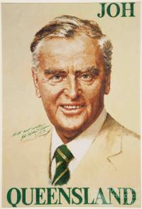Joh Bjelke-Petersen campaign poster, 1983