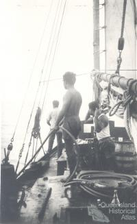 Pearl diving deckhands, c1950