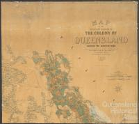 Southern portion of Queensland showing surveyed runs, 1872