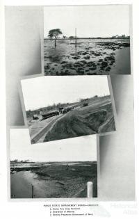 Sandgate land reclamation, 1937