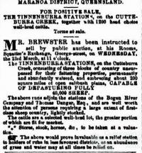 Tinnenburra land sales, 1864