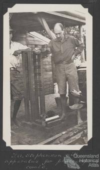 Photographic equipment, Low Isles, 1928