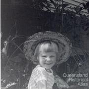 Francesca in the garden in St Lucia, c1964