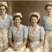 Waitresses at Ipswich's Regal Café, c1940