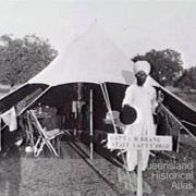 Charles Brand's tent, India 1910