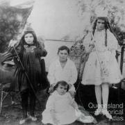 Paradise children in fancy dress, c1891