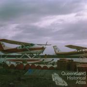 Cessna Amphibian aircraft, Royal Flying Doctor, Gold Coast, 1973