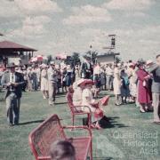 Crowd at Emerald racecourse, c1960