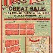 Estate map of Hermit Park, 1884