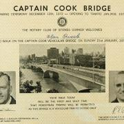 Walk on the Captain Cook Bridge, 1973