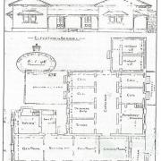 Plan of the Fortitude Valley police station, c1903