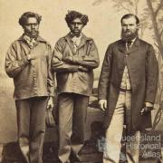 William Landsborough with Jemmy and Jack Fisherman, 1862