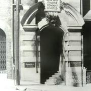 Entrance to AML&F Creek Street offices, 1971